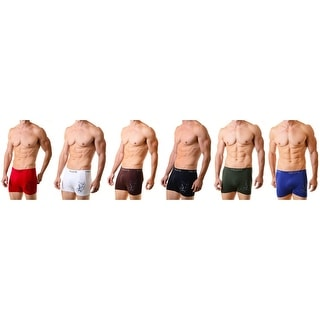 Men's Surfer Classic Seamless Boxer Briefs Shorts Shorts Underwear  6-Pack (One Size)