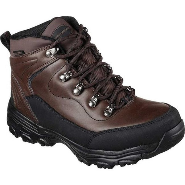 7d0c40fbc405 Shop Skechers Women s Work D Lites SR Chitina Waterproof Boot Dark ...