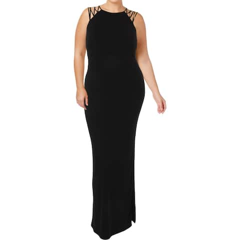 Lauren Ralph Lauren Womens Charissa Evening Dress Strappy Full-Length