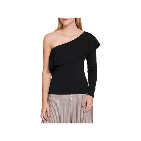 Tommy Hilfiger Womens Casual Top Flounce One Shoulder
