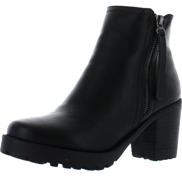 Via Pinky Nora-97 Women's Basic Comfy Side Zipper Ankle Booties