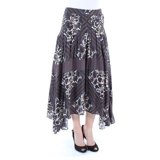 Womens Brown Maxi Paneled Skirt Size 6