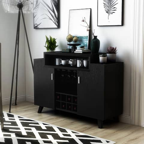 Furniture of America Hafley Contemporary 2 Open Shelves Buffet