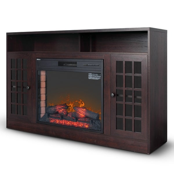 Shop Della Home Electric Heater Fireplace Flame Tv Stand