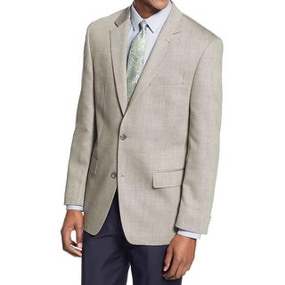 MICHAEL Michael Kors Mens Two-Button Blazer Wool Pattern