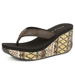 Roper Western Shoes Womens Aztec 3 Inch Wedge 09-021-0607-1156 BR