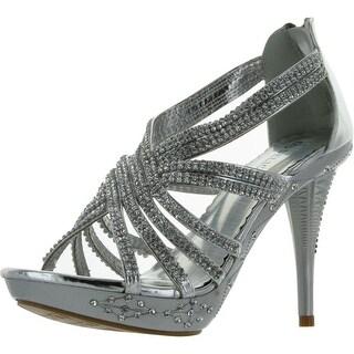 Delicacy Women's Delicacy-01 Dress Pumps Shoes - Silver - 6 b(m) us