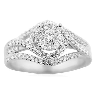 3/4cttw Diamond Bridal Wedding Ring Engagement 10K White Gold Vintage Solitaire(0.75cttw) By MidwestJewellery