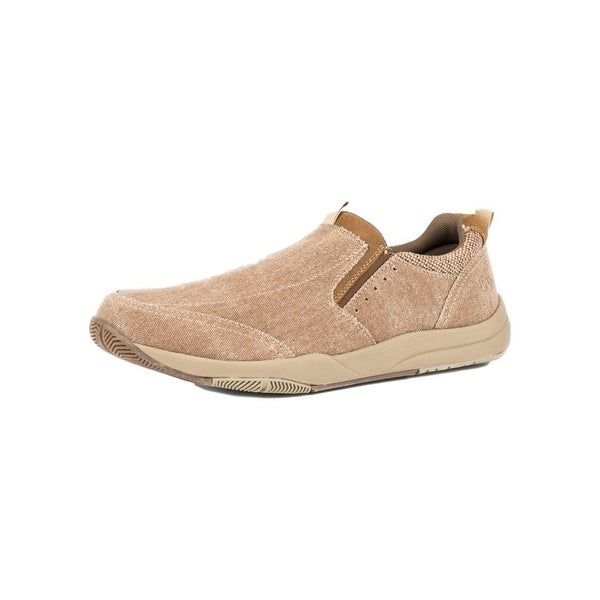 Roper Western Shoes Mens Canvas Slip On Tan