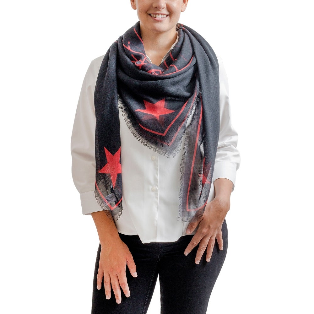 Inc International Concepts black beaded ends evening wrap scarf