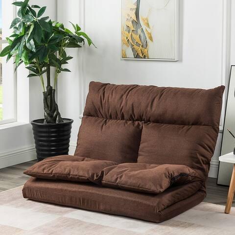Home Furniture Folding Futon Sofa Blue