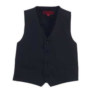 Gioberti Big Boys Black Solid Color Four Button Classic Formal Vest (4 options available)