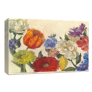 """PTM Images 9-153643  PTM Canvas Collection 8"""" x 10"""" - """"Gala Floral"""" Giclee Flowers Art Print on Canvas"""