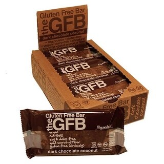 The Gfb Dark Chocolate Coconut Bar Gluten Free, 12 x 2.05 oz