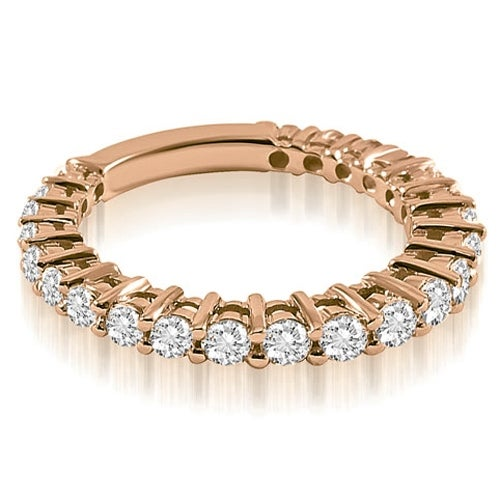 0.75 cttw. 14K Rose Gold Classic Round Cut Diamond Wedding Band