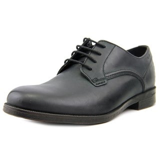 Clarks Brocton Walk Men  Round Toe Leather Black Oxford