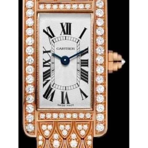 Cartier Women's HPI00725 'Tank' Rose Gold-Tone 18K Rose Gold-Tone with Set of Diamonds Watch