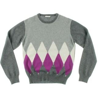 Ballantyne Girls Pullover Sweater Colorblock Ribbed Trim