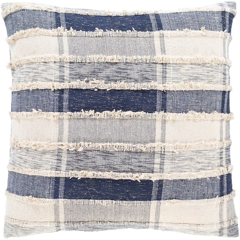 Iliana Woven Plaid Striped Throw Pillow