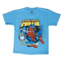 "Spiderman Spider Sense ""I'm Outta Here!"" Youth T-Shirt - Carolina Blue - 7"
