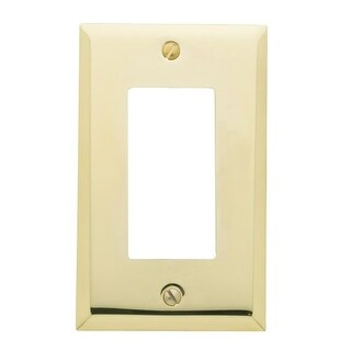 Baldwin 4754 Beveled Edge Single Rocker/GFCI Solid Brass Switch Plate from the Estate Series