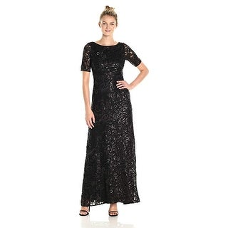 Adrianna Papell Women's Dress Stretch Sequin Tulle Gown