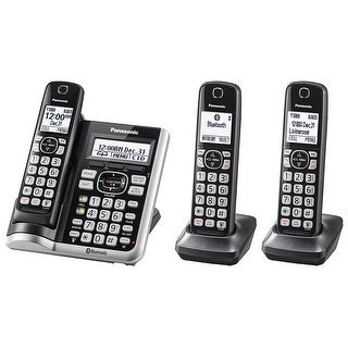 Panasonic KX-TGF573S Link2Cell BluetoothCordless Phone with Voice Assist and Answering Machine - 3 Handsets