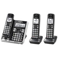 Panasonic KX-TGF573S Link2Cell BluetoothCordless Phone with Voice Assist and Answering Machine - 3 Handsets (Refurbished)