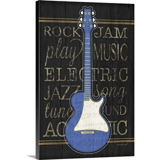 """Music Guitar"" Canvas Wall Art"