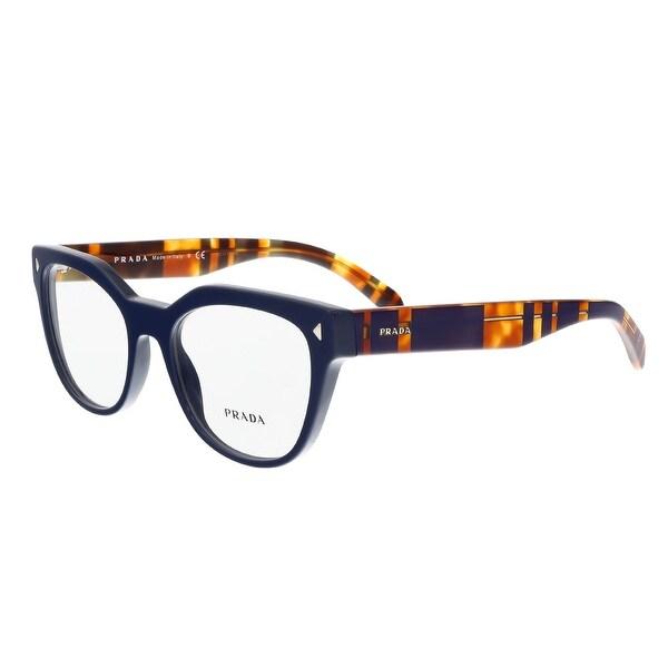 ec053f9481e Shop Prada PR 21SV TFM1O1 Blue Square Optical Frames - 51-19-140 ...