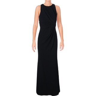 Badgley Mischka Womens Evening Dress Crepe Ruched - 0