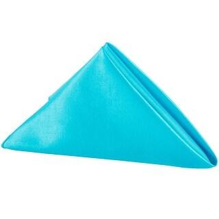 "10 Pieces, Taffeta Napkin Approx. 20""x20"" square Edge: Overlock serge - Aqua Blue"
