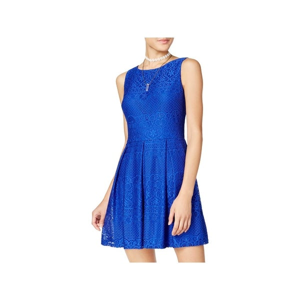 Shop B Darlin Womens Juniors Party Dress Lace Fit Amp Flare