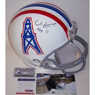 Earl Campbell Autographed Hand Signed Houston Oilers Full Size Authentic Helmet  PSADNA