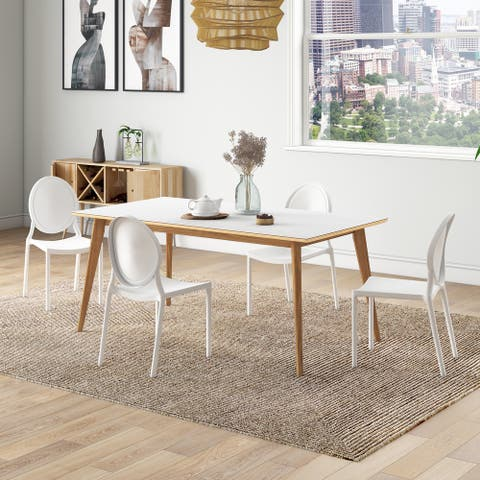 Carson Carrington Dattolo 5-piece Dining Table with Oval-back Resin Chairs