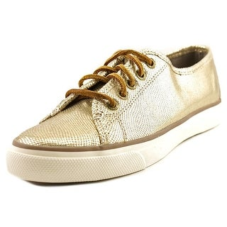 Sperry Top Sider Seacoast Women Leather Gold Fashion Sneakers