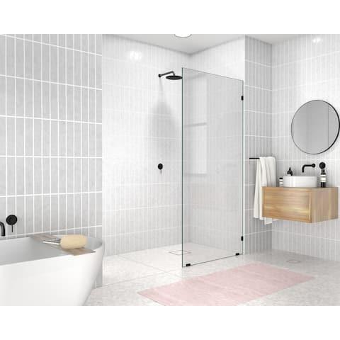 "Glass Warehouse 78"" x 35.5"" Frameless Shower Door - Single Fixed Panel"