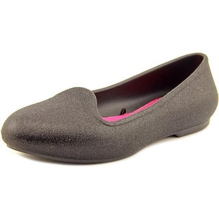 Crocs Eve Sparkle Round Toe Synthetic Flats