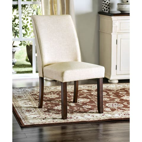 Furniture of America Lind Transitional Ivory Dining Chairs (Set of 2)