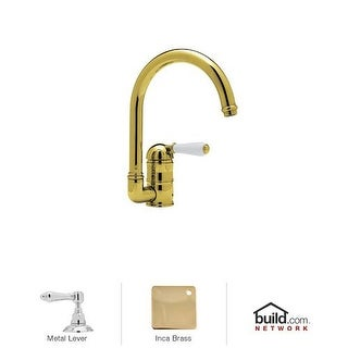 Rohl A3606LMWS-2 Country Kitchen Kitchen Faucet with Side Spray and Metal Lever