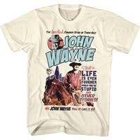 John Wayne Make it Wayne Men's Vintage White Shirt