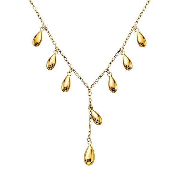Just Gold Teardrop Necklace in 10K Gold - Yellow