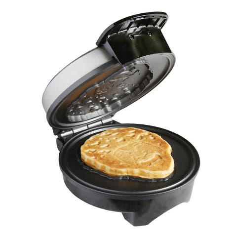 Bob Ross Waffle Maker - Bob's Iconic Face on Your Waffles - Waffle Iron - 10 in. x 6 in. 7 in.