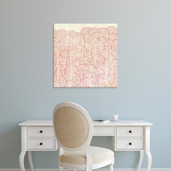 Easy Art Prints June Erica Vess's 'Weathered Patterns in Red I' Premium Canvas Art