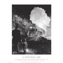 ''Montgomery Tunnel'' by O. Winston Link Transportation Art Print (32 x 24 in.)