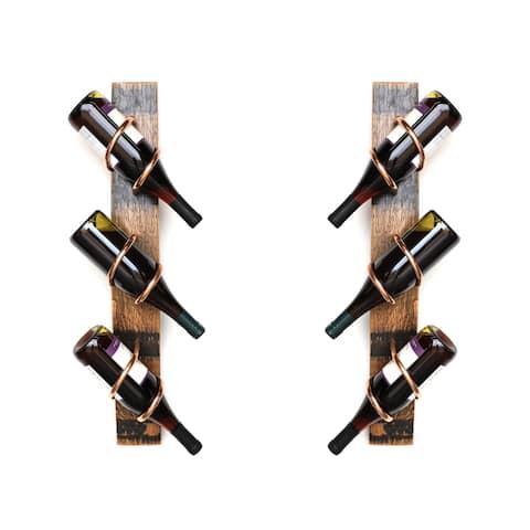 Handmade Whiskey Stave Wine Rack Set (USA)