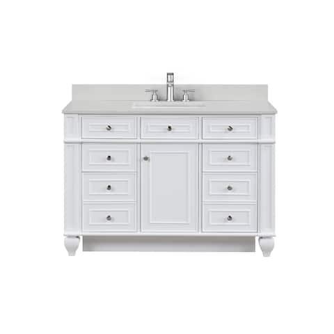 """Winston 48"""" Single Vanity in White"""
