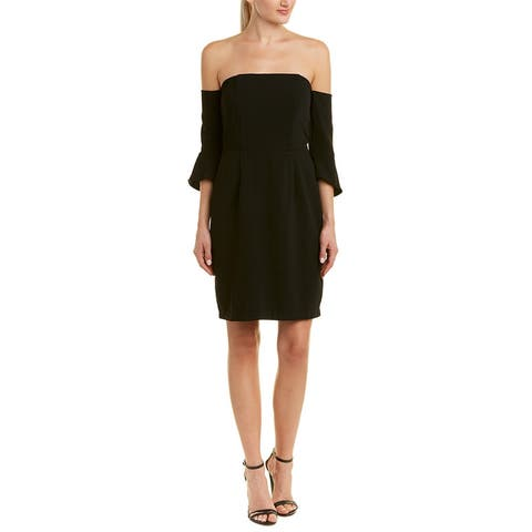 Cupcakes And Cashmere Off-The-Shoulder Sheath Dress