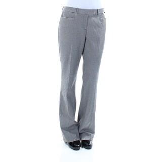 TOMMY HILFIGER $89 Womens New 1187 Black Plaid Boot Cut Pants 2XS B+B