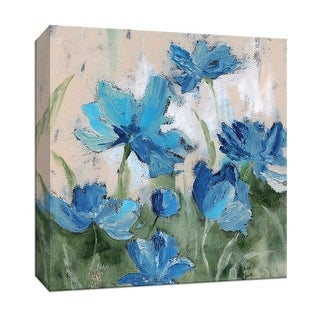 "PTM Images 9-147004  PTM Canvas Collection 12"" x 12"" - ""Shades of Blue I"" Giclee Flowers Art Print on Canvas"